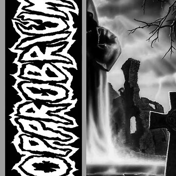 Opprobrium - 'Beyond The Unknown' Black and White Split Design by opprobriumstore