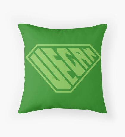 Vegan SuperEmpowered (Green) Throw Pillow