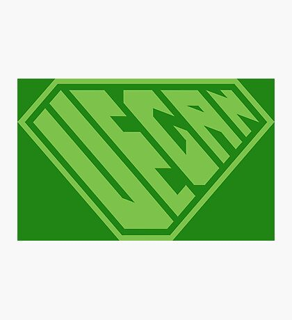 Vegan SuperEmpowered (Green) Photographic Print