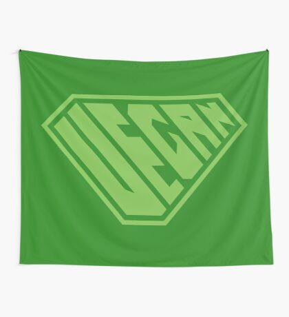 Vegan SuperEmpowered (Green) Wall Tapestry