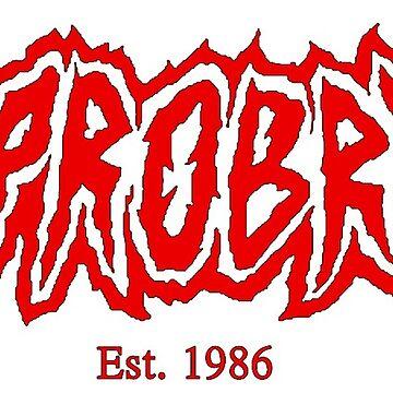 Opprobrium Logo (Red / Est. 1986) by opprobriumstore