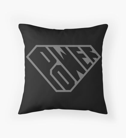 SuperEmpowered (Black on Black) Throw Pillow