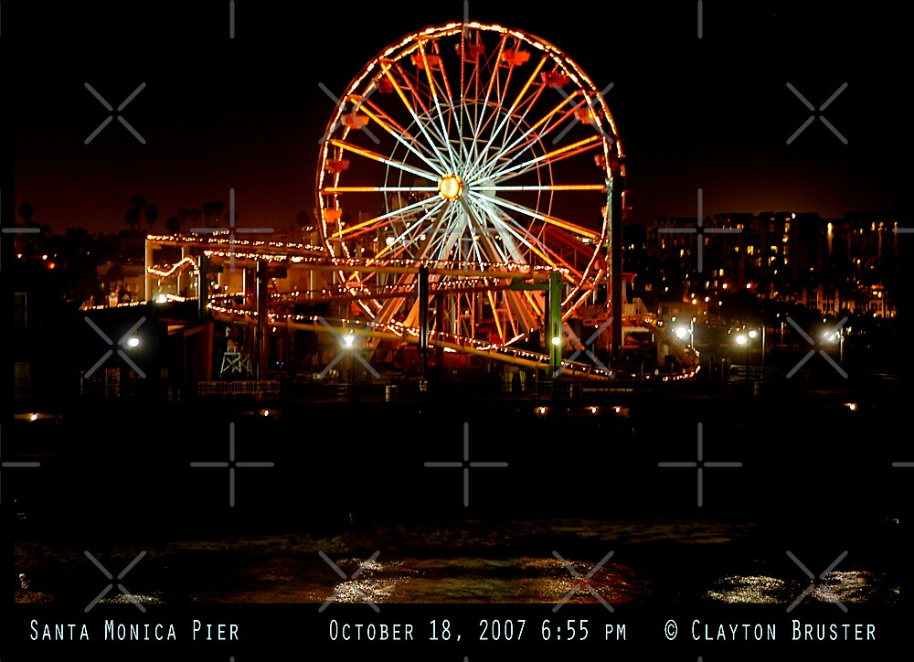 Santa Monica Pier October 18 2007 Night by Clayton Bruster