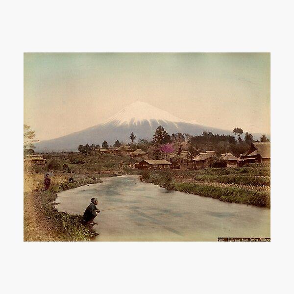 Mt. Fuji from Omiya Village 1880s Photographic Print
