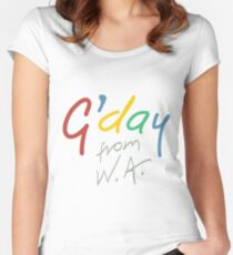 G'day from WA Women's Fitted Scoop T-Shirt