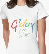 G'day from WA Women's Fitted T-Shirt