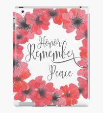 Vinilo o funda para iPad Día del Recuerdo: Honor, Recuerda, Paz