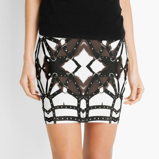 Composition, frame, texture, scheme, diagram, circuit, schema, chart Mini Skirt