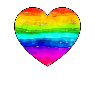 Rainbow Heart T-Shirt Peace Pride Equality by Zuri2018