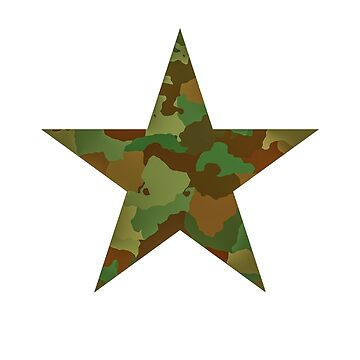 Camouflage Armed Forces Five-Pointed Star by Zuri2018