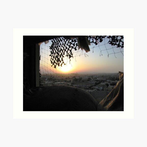 Sunset over Mosul Art Print