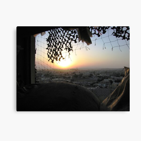 Sunset over Mosul Canvas Print