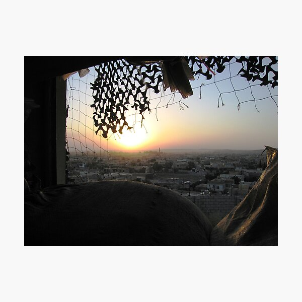 Sunset over Mosul Photographic Print