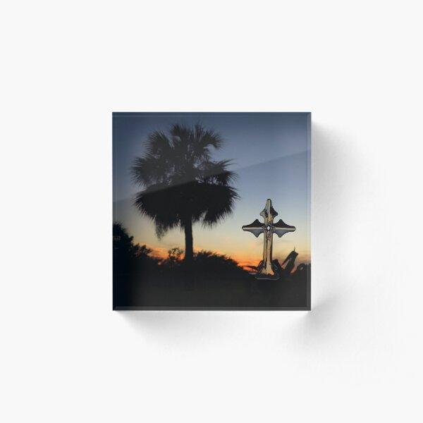 Sunset Cross  Acrylic Block