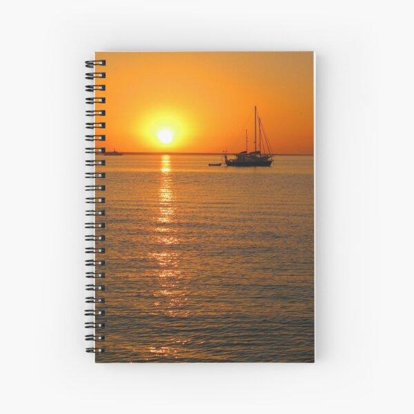 Sailboats at Sunset II Spiral Notebook