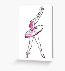 sketch of girls ballerina standing in a pose Greeting Card