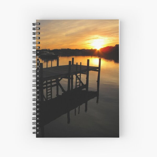 Black Sound Sunrise  Spiral Notebook
