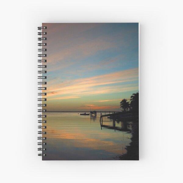 Swirly Pink Sunset (2) Spiral Notebook