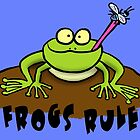 Cool frog cartoon design by FrogFactory