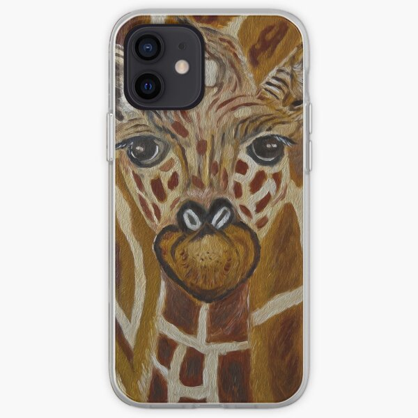 Baby Giraffe, Momma and baby, nursery decor, home decor, wall art iPhone Soft Case