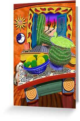Cactus Reaching Through Window To Grab A Margarita by Jamie Rice