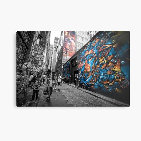 Street art Melbourne (Hosier Lane)  Metal Print