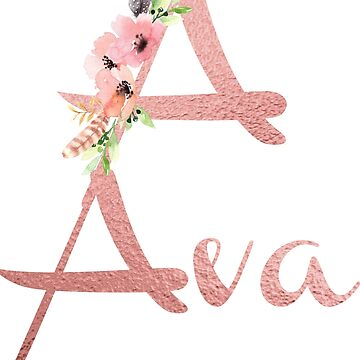 Blush Floral A for Ava by indicat
