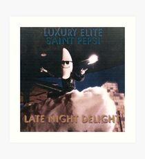 Late Night Delight by Luxury Elite and Saint Pepsi Art Print