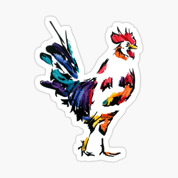Bruce the Rooster *dark Sticker