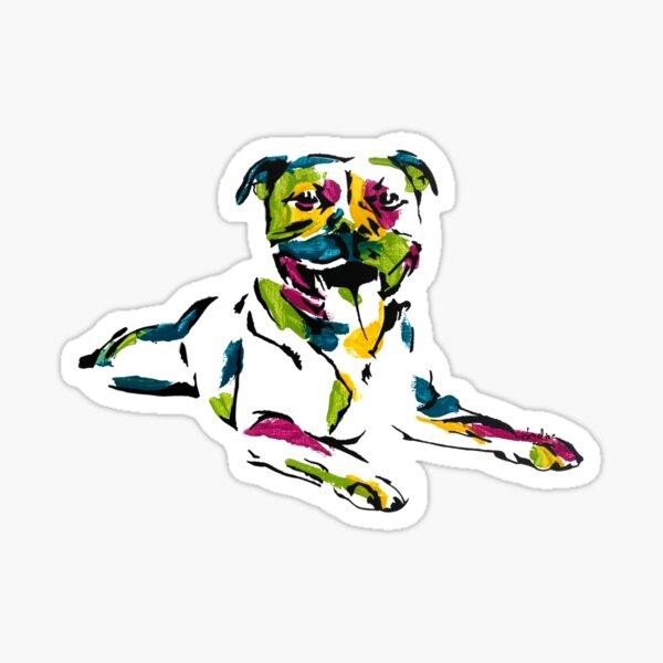 Boris the Staffordshire Terrier *dark Sticker