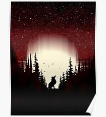 Red Forest Fox Poster