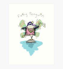 Cute Fairy Penguin Art Print