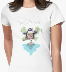 Cute Fairy Penguin Fitted T-Shirt