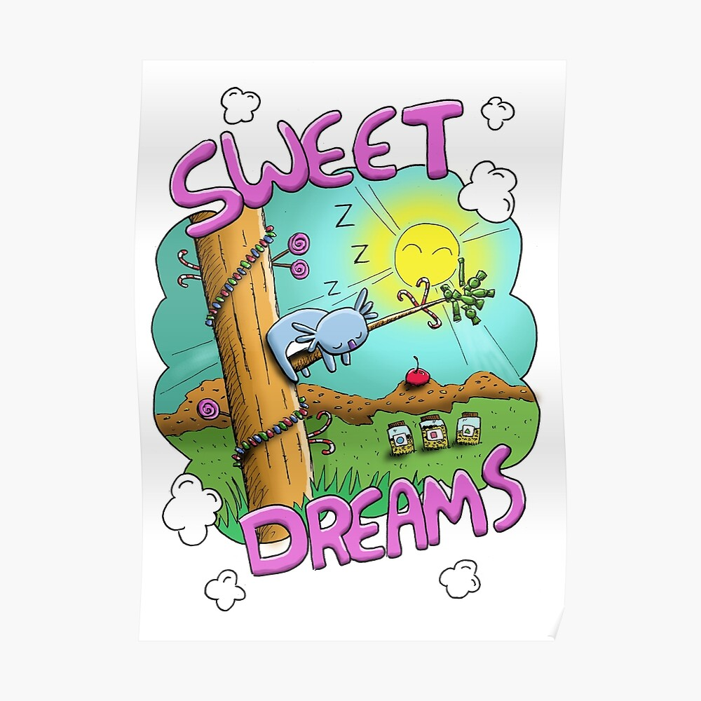 Sweet Dreams - Cute Sleeping Koala Poster