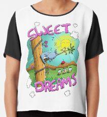 Sweet Dreams - Cute Sleeping Koala Chiffon Top