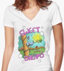 Sweet Dreams - Cute Sleeping Koala Fitted V-Neck T-Shirt