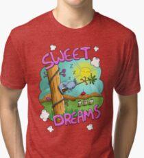 Sweet Dreams - Cute Sleeping Koala Tri-blend T-Shirt