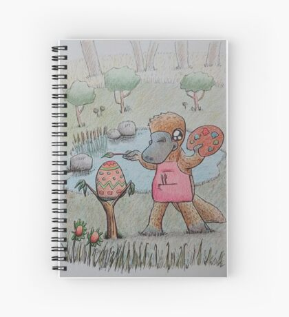 Easter Platypus Spiral Notebook