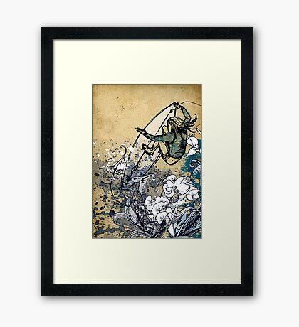 Surfer Chick Framed Print
