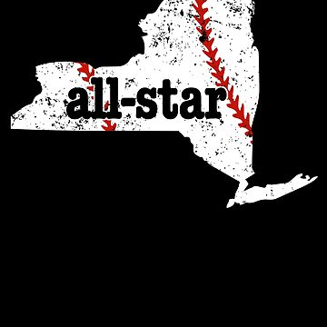 Youth All Star Baseball Shirt New York Shirt Softball Star by shoppzee