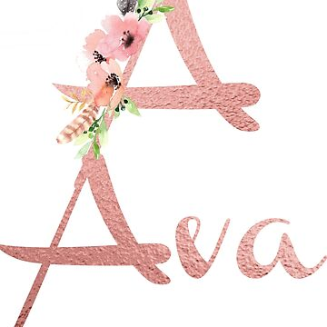 A for Ava Blush Name by indicat