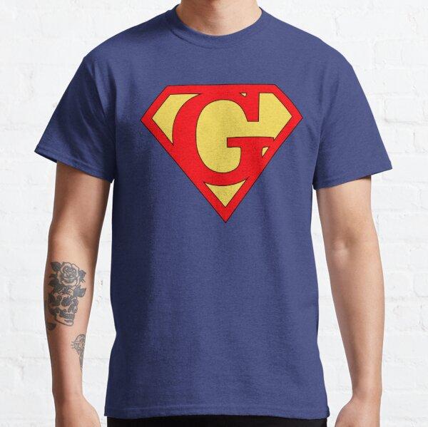 Superhero Superheroine Letter G Shield Red Yellow (version 1) Classic T-Shirt