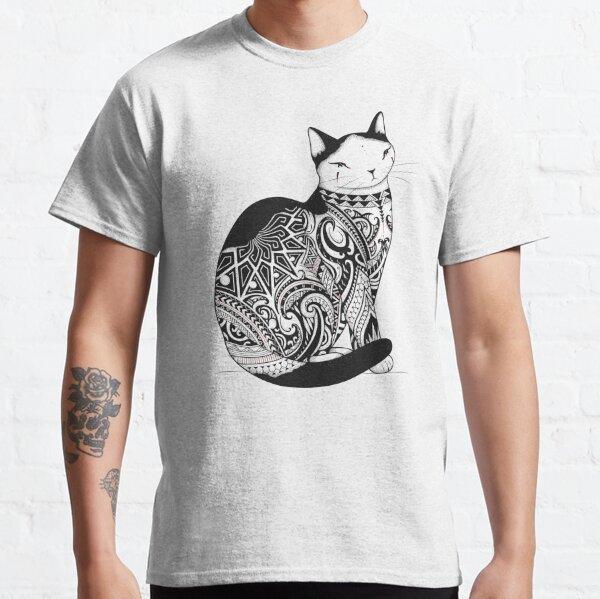 Cat in Tribal Tattoo Classic T-Shirt