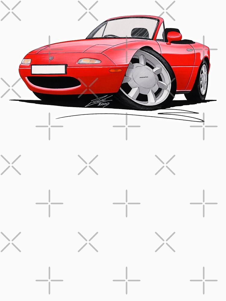Mazda MX5 / Miata (Mk1) Red | Unisex T-Shirt