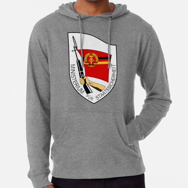 Stasi Ministry State Security - GDR DDR East Germany  Lightweight Hoodie
