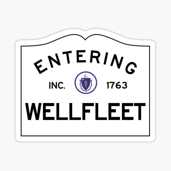 Entering Wellfleet - Commonwealth of Massachusetts Road Sign Sticker