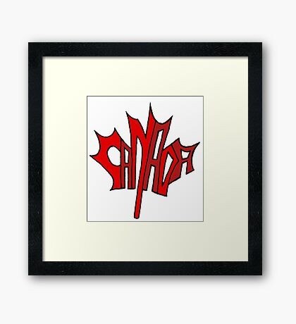 Canadian Maple Leaf Framed Print