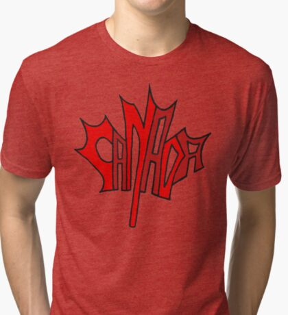 Canadian Maple Leaf Tri-blend T-Shirt