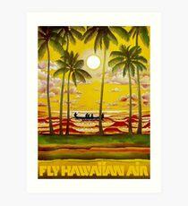 HAWAIIAN AIR; Travel and Tourism Print Art Print