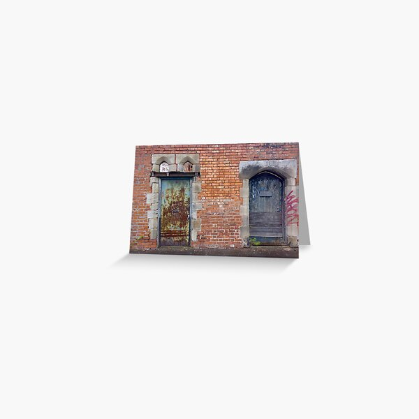 Double Doors Greeting Card